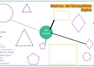 Matrice d'analyse de l'écosystème digital